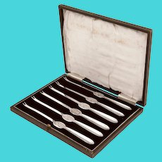 Boxed Set of Six Vintage Silver Plated Lobster Seafood Picks
