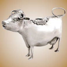 Very Good Quality Sterling Silver Cow Creamer