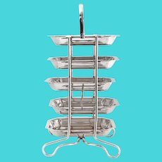 Art Deco Style Silver Plated 5 Tier Hors d'Oeuvres or Cake Stand