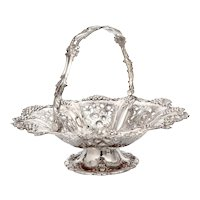 Large Antique Martin Hall & Co Silver Plated Fruit Basket