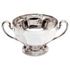 Edwardian Goldsmiths & Silversmiths Silver Bowl in a Plain Circular Form