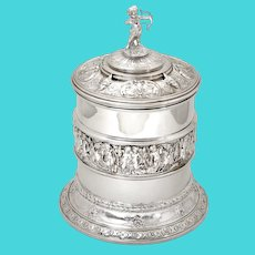 Elkington & Co Silver Plated Barrel Decorated with Cherubs and a Cupid Finial