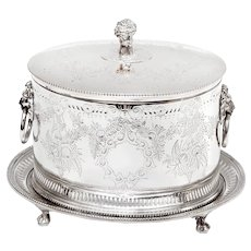 Antique Horace Woodward & Co Silver Plated Biscuit or Trinket Box