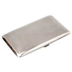 Elkington & Co Rectangular Sterling Silver Pocket Cigar Case