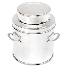 Large Silver Plated Churn Shaped Biscuit or Trinket Box