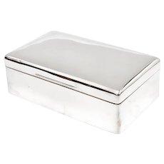 Plain Edwardian William Comyns Cedar Lined Sterling Silver Cigar Box