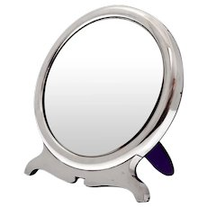 William Comyns Plain Sterling Silver Dressing Table Mirror