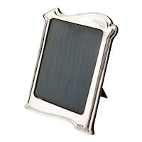 Large Art Nouveau Style Silver Frame with a Plain Shaped Stylised Border