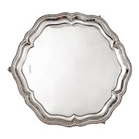 Georgian Style Sterling Silver Salver by Walker and Hall
