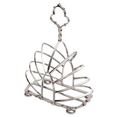Late Victorian Silver Plated Toast Rack with Eight Arch Shaped Dividers