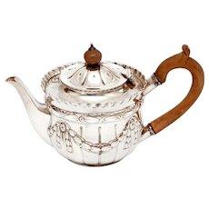 Victorian Sterling Silver Bachelor Style Tea Pot