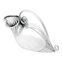 Victorian Novelty Silver Plated Stylised Duck Shape Spoon Warmer