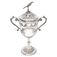 Antique Sterling Silver Two Handle Presentation Cup