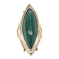 Malachite Statement Ring 14k