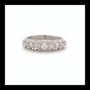 7 Stone Old European Diamond Hinged Band 14k