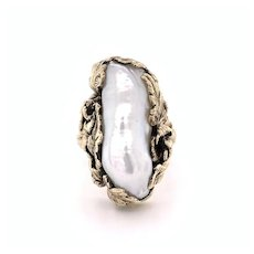 Baroque Pearl Ring 14k