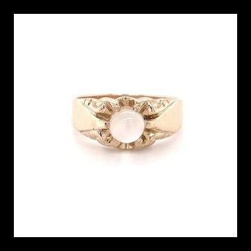 Moonstone Belcher Ring 10k