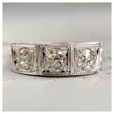 Art Deco Old Mine Diamond Ring 18k