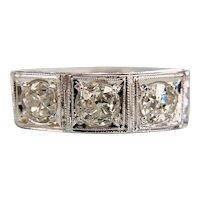 Art Deco Old Mine Diamond Ring 18k