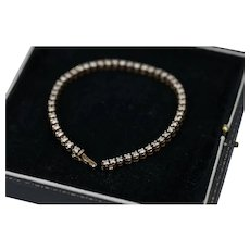 Vintage 1.50ct Brilliant Cut Diamond Tennis Bracelet in 14 Karat Gold