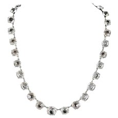 Art Deco Graduate Paste Riviera Necklace