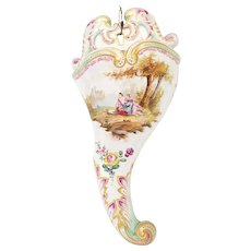 Luneville Veuve Perrin Fayance French Porcelain Wall Pocket