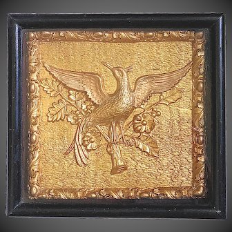 19thC  Relief Carved Giltwood Ho Ho Bird