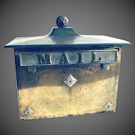 Antique Solid Brass Wall Mounted Mailbox