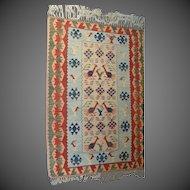 Vintage Flat-weave Wool Rug
