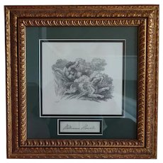 Early 19th Century Original Engraving - Howitt - Hunting Dogs