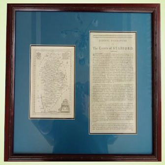 18th Century Map and Description of Staffordshire