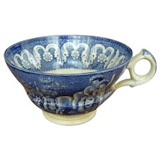 Blue and White Creamware Cup