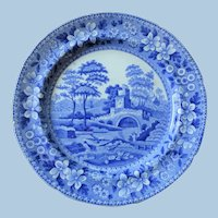 Pre-1833 Spode Plate - Tower Pattern