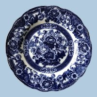 19th C. Flow Blue Plate