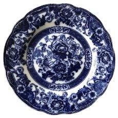 19th C. Flow Blue Plate