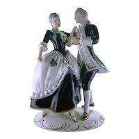 Royal Dux Rococo Dancing Figurines