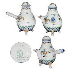 Vintage Handpainted Porcelain Handled Pot - CARVALHINHO Portugal