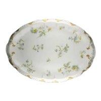 Haviland Limoges Blue Floral Oval Serving Platter