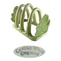 Vintage Carlton Ware Green Leaf Toast Rack
