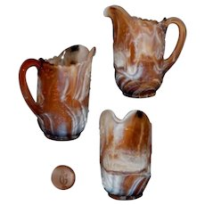 Imperial Caramel Slag Glass Windmill Pitcher