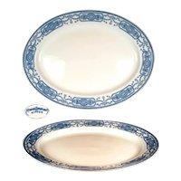 Nippon Royal Sometuke Royal Blue Oval Serving Platter