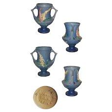Roseville Blue Foxglove Handled Trophy Vase