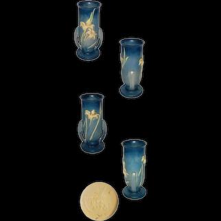 Vintage Roseville Zephyr Lily Blue Vase