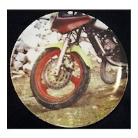 RARE Limited Edition Rauschenberg Plate - Motorcycle - 14792 - Number 5 in the Series