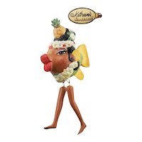 Katherine's Collection Carmen Miranda Kissing Fish Ornament with Dangling Legs