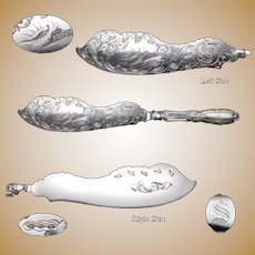 Coin Silver Jenny Lind Albert Coles Fish Server