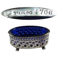 Sterling & Cobalt Watson Open Salt Dish