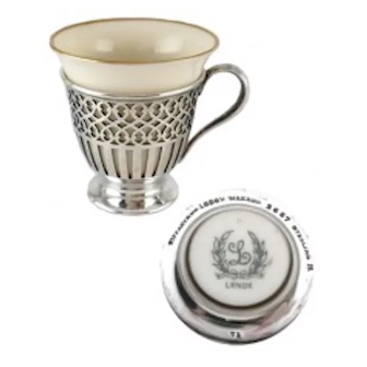 Sterling Tiffany Demitasse with Lenox Liner