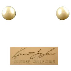 Kenneth Jay Lane Couture Collection Pearl-like Earrings