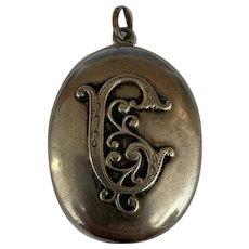 Antique victorian silver Locket